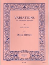 Marcel Bitsch - Variations On A French Song - Sheet Music - di-arezzo.co.uk