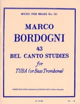 Marco Bordogni - 43 Bel Canto Studies - Sheet Music - di-arezzo.com