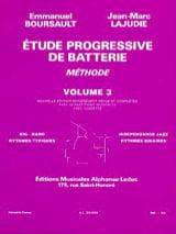 BOURSAULT - LAJUDIE - Etude Progressive de Batterie - Méthode Volume 3 - Partition - di-arezzo.fr