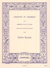 Andante Et Scherzo Opus 44 Henri Busser Partition laflutedepan.com