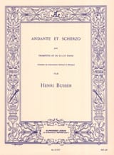 Henri Busser - Andante Et Scherzo Opus 44 - Partition - di-arezzo.fr