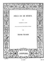 Henri Busser - Pièce En Mib Opus 33 - Partition - di-arezzo.fr