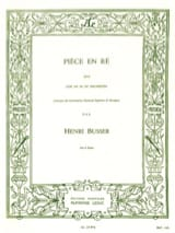 Henri Busser - Room In D - Sheet Music - di-arezzo.com
