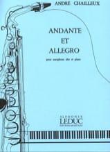 Andante et Allegro André Chailleux Partition laflutedepan.com