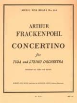 Arthur Frackenpohl - Concertino - Partition - di-arezzo.fr