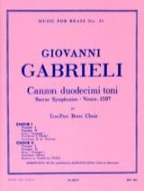 Giovanni Gabrieli - Canzon Duodecimi Toni - Partition - di-arezzo.fr