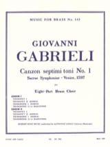 Canzon Septimi Toni N° 1 GABRIELI Partition laflutedepan