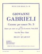 Canzona Per Sonare N° 3 Giovanni Gabrieli Partition laflutedepan.com