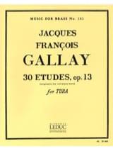 30 Studies Opus 13 Jacques-François Gallay Partition laflutedepan.com