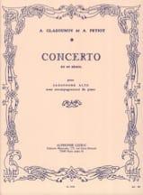 Concerto En Mi Bémol Alexander Glazounov Partition laflutedepan.com