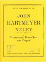 Negev. 11 Cuivres John Hartmeyer Partition laflutedepan.com