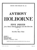 5 Pieces Anthony Holborne Partition laflutedepan.com