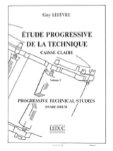 Guy Lefèvre - Progressive Studie der Technik - Band 2 - Noten - di-arezzo.de