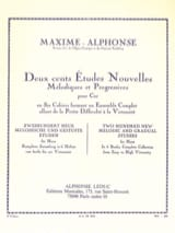 Maxime-Alphonse - 200 Studies News Volume 6 - Sheet Music - di-arezzo.com