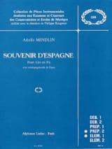 Souvenir d'Espagne Adolfo Mindlin Partition Cor - laflutedepan.com