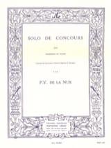 Solo de Concours P.V. de La Nux Partition Trombone - laflutedepan.com