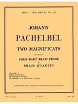 2 Magnificats Johann Pachelbel Partition laflutedepan.com