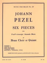 6 Pieces Johann Christoph Pezel Partition laflutedepan.com