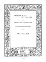 Premier Solo de Concert Paul Rougnon Partition laflutedepan.com
