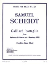Samuel Scheidt - Galliard Battaglia - Partition - di-arezzo.fr