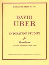 Intonation Studies David Uber Partition Trombone - laflutedepan.com