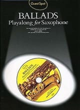 - Guest Spot - Ballads Playalong For Saxophone - Partition - di-arezzo.fr