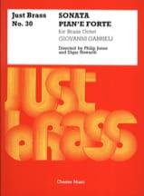 Giovanni Gabrieli - Sonata Pian'e Forte - Just Brass N° 30 - Partition - di-arezzo.fr