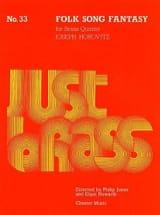 Folk Song Fantasy - Just Brass N° 33 Joseph Horovitz laflutedepan.com