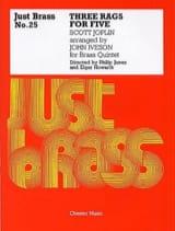 3 Rags For Five - Just Brass N° 25 Scott Joplin laflutedepan.com