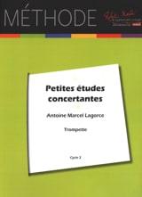 Antoine-Marcel Lagorce - Petites Etudes Concertantes Pour Trompette - Partition - di-arezzo.fr