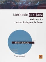 Méthode sax jazz volume 1 - Michel Goldberg - laflutedepan.com