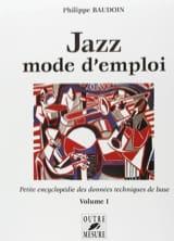 Philippe Baudoin - Volumen 1 del manual de usuario de Jazz - Libro - di-arezzo.es