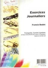 Exercices journaliers Francis Bodet Partition Trompette - laflutedepan