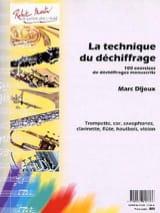 Marc Dijoux - La technique du déchiffrage - Partition - di-arezzo.fr