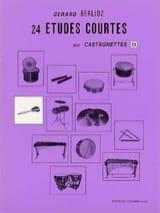 24 Etudes Courtes Volume D Gérard Berlioz Partition laflutedepan.com
