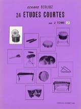 24 Etudes Courtes Volume J Gérard Berlioz Partition laflutedepan.com