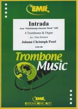 Intrada Johann Christoph Pezel Partition Trombone - laflutedepan