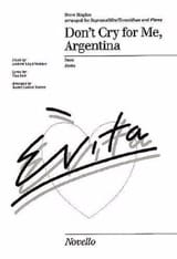 Andrew Lloyd Webber - Do not Cry For Me Argentina Movie Evita - Sheet Music - di-arezzo.co.uk