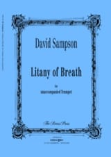 Litany of breath David Sampson Partition Trompette - laflutedepan.com