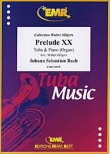 Prélude XX BWV 865, Teil I BACH Partition Tuba - laflutedepan