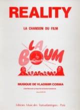 Réality - Film la Boum Vladimir Cosma Partition laflutedepan.com