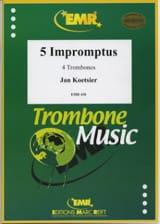 5 Impromptus Jan Koetsier Partition Trombone - laflutedepan.com