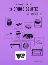 24 Etudes Courtes Volume H Gérard Berlioz Partition laflutedepan.com