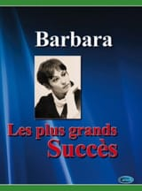 Barbara - Les plus grands succès - Partition - di-arezzo.fr