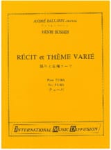 Henri Busser - Story and Varied Theme - Sheet Music - di-arezzo.com