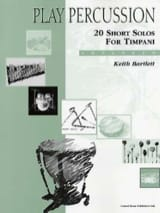 Keith Bartlett - 20 Short Solos For Timpani - Advanced - Partition - di-arezzo.fr