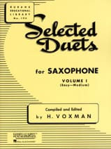 Selected Duets Volume 1 Voxman Partition Saxophone - laflutedepan