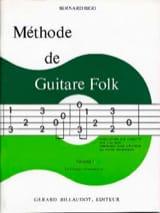 Méthode de Guitare Folk Volume 1 Bernard Bigo laflutedepan.com