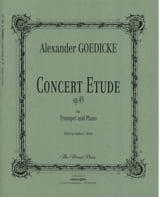 Alexander Goedicke - Concert study opus 49 - Sheet Music - di-arezzo.com
