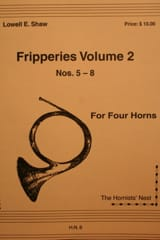 Fripperies Volume 2 N° 5-8 Lowell E. Shaw Partition laflutedepan.com
